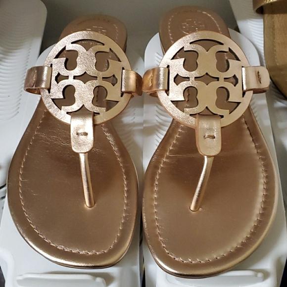 Tory Burch Shoes - Tory Burch Rose Gold Miller 8.5